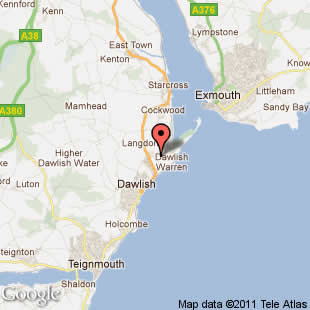 dawlish sands location map