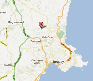 torquay holiday park location map